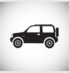 Car icon on white background for graphic and web vector