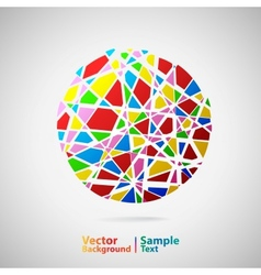Circle from many parts vector