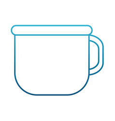 coffee in mug vector image