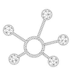 Connection links polygonal frame mesh vector