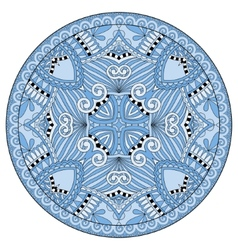 Decorative blue colour design of circle dish vector