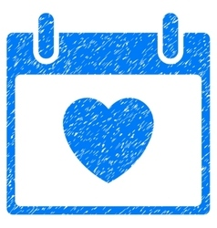 Favourite Heart Calendar Day Grainy Texture Icon vector