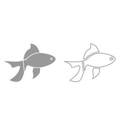 fish it is black icon vector image