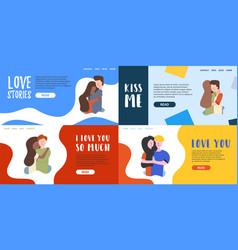 Flat banner love each other hugs vector