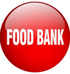 Food bank red round gel isolated push button vector
