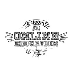 for online distance studying and education design vector image