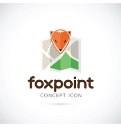 Fox Point Abstract Symbol Icon vector