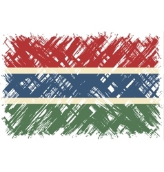 Gambian grunge flag vector