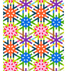 geometrical snowflakes seamless pattern winter vector image