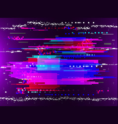 glitched color horizontal and vertical stripes and vector image