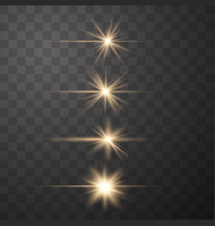 glow gold special light vector image