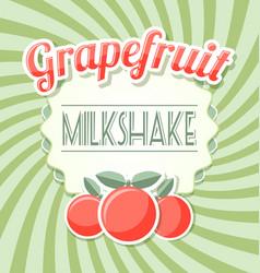 Grapefruit milkshake label vector