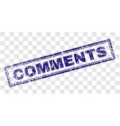Grunge comments rectangle stamp vector