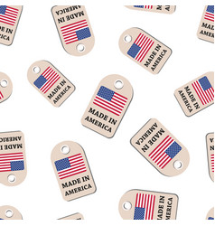 hang tag made in america with flag seamless vector image