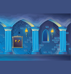 Haunted castle interior theme 1 vector