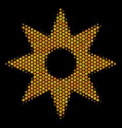 hexagon halftone new star icon vector image