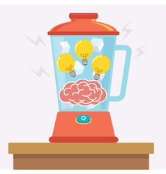 Idea brain mix vector