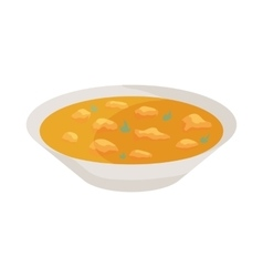 Indian soup icon cartoon style vector
