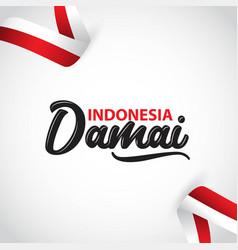 Indonesia damai template design vector