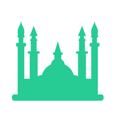 isolated mosque silhouette vector image