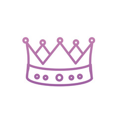 Isolated royal crown design vector