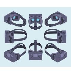 Isometric virtual reality headset vector