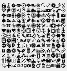 Large Icon Set vector image