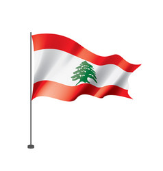 lebanese flag on a white vector image