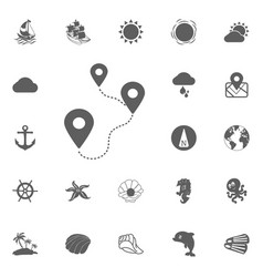 Location route icon vector