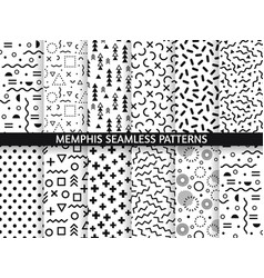 memphis seamless patterns funky pattern retro vector image