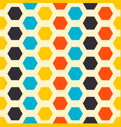 Mid century fifties modern hexagon retro colors vector