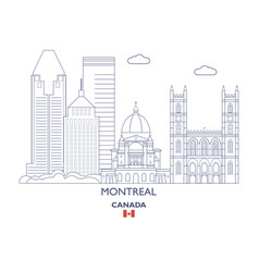 Montreal city skyline vector
