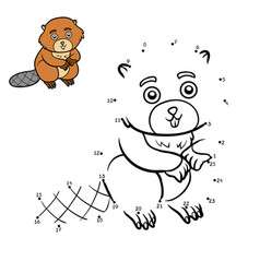 numbers game beaver vector image