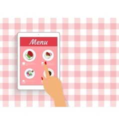 Ordering food in restaurant vector image