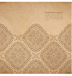 Ornate background with copy space coffe brown vector