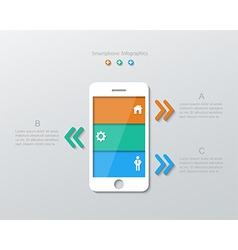 Paper smartphone infographics vector