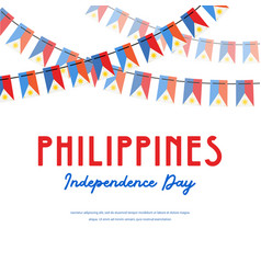 philippines independence day banner vector image