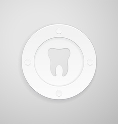 Plate with a dent in the shape of a tooth vector