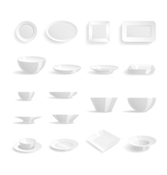Plates templates set vector image