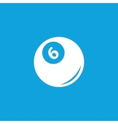 Pool ball icon simple vector