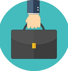 Portfolio concept Flat design Icon in turquoise vector image