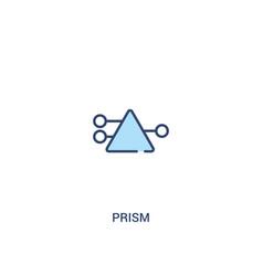 Prism concept 2 colored icon simple line element vector