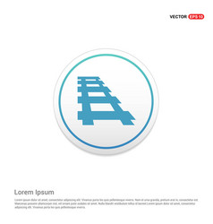 Railroad track icon hexa white background icon vector