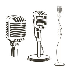retro microphone images vector image