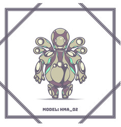 robot model number hma 02 vector image