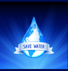 save earth and water concept vector image