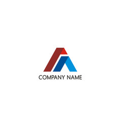 shape abstract business finance colored logo vector image