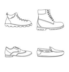shoe and footwear logo vector image
