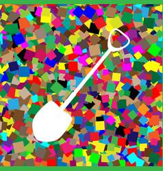shovel to work in the garden white icon vector image
