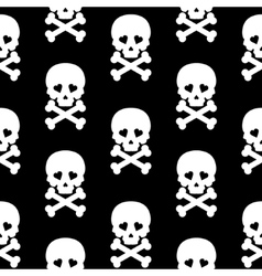 Skull Seamless pattern background white black vector image